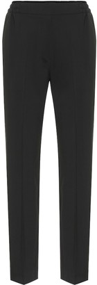 Etro Stretch-wool high-rise pants