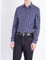 Michael Kors Caden Slim-fit Checked Cotton Shirt