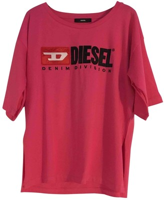 Diesel Pink Cotton Top for Women