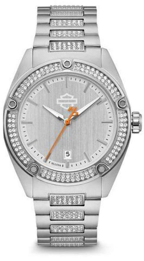 Harley-Davidson Women's Crystal Embellished B&S Stainless Steel Watch 76L187