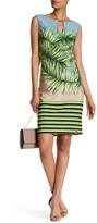 Sangria Sleeveless Print Keyhole Dress