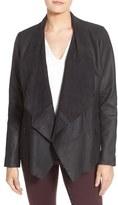Bernardo Petite Women's Drape Front Leather Jacket