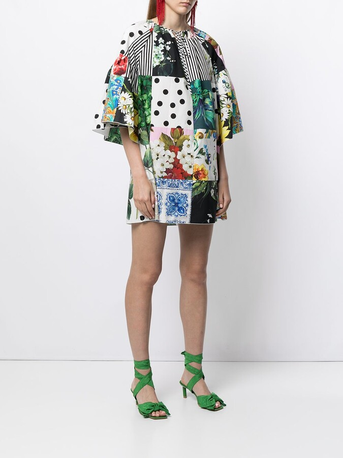 Thumbnail for your product : Dolce & Gabbana Patchwork Cotton Minidress