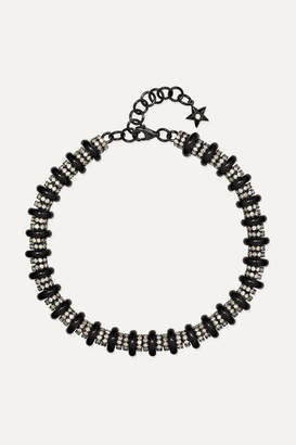 Ofira 18-karat Blackened White Gold, Diamond And Onyx Bracelet