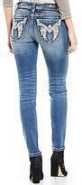 Miss Me Embellished Wing Pocket Mid-Rise Skinny Jeans
