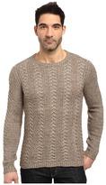 John Varvatos Long Sleeve Crew Neck Sweater w/ Weave Rib Stitch Y1407S3L