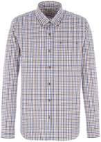Gibson Men's Navy and Brown Check Shirt