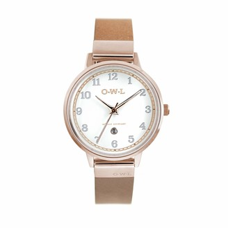 OWL Women's Analogue Japanese Quartz Watch with Stainless Steel Strap S8SRT