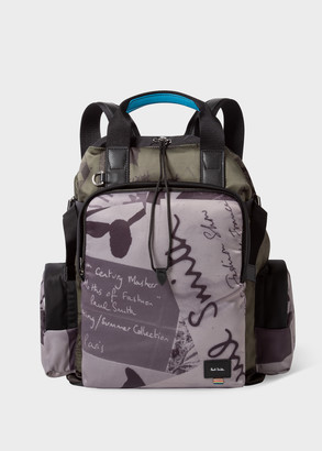 Paul Smith 'Show Collage' Print Duffle Backpack