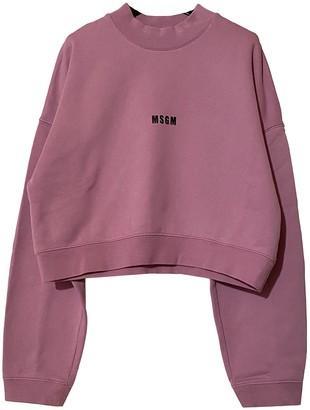 MSGM Purple Cotton Knitwear for Women