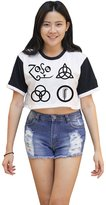 Me Women's Led Zeppelin Symbols Crop T-shirt