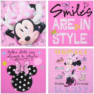 Disney Minnie Mouse 4-Count Canvas Wall Art