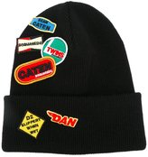 DSQUARED2 patch detail beanie - men - Wool - One Size