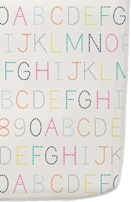 Pehr Alphabet Crib Sheet