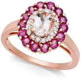 Macy's Multi-Gemstone (1-7/8 ct. t.w.) & Diamond (1/6 ct. t.w.) Ring in 14k Rose Gold