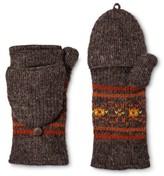 Laundromat Women's Hand Knit Wool Fliptop Mittens with Fleece Lining