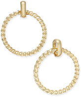Charter Club Gold-Tone Twisted Doorknocker Earrings, Only at Macy's