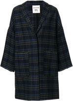 Semi-Couture Semicouture - checked coat - women - Cotton/Acrylic/Polyester/other fibers - S