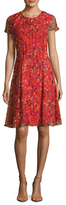 Carolina Herrera Silk Chiffon Printed Flared Dress