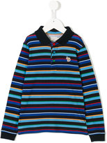 Paul Smith striped longlseeved polo shirt