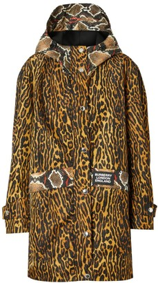 Burberry Cramond Leopard & Pythong Print Anorak Jacket