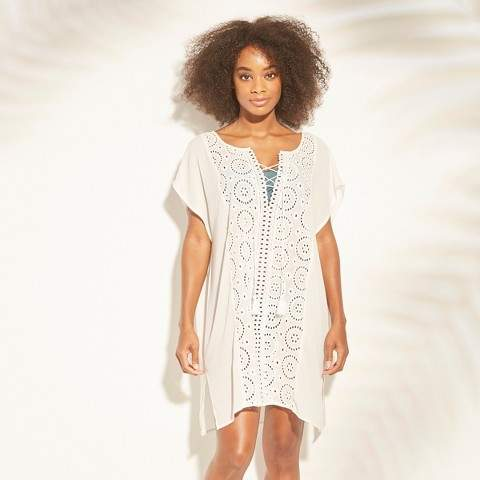 01634e3357 White Eyelet Bathing Suit Cover - ShopStyle