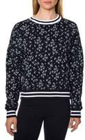 Betsey Johnson Floral-Print Cotton Sweatshirt