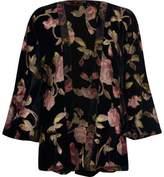 River Island Womens Black floral burnout kimono