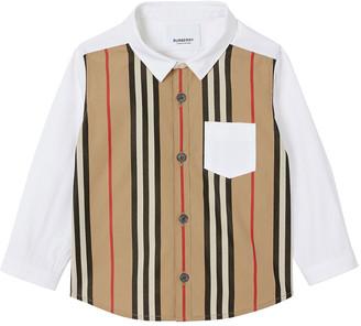 Burberry Boy's Ledger Icon Stripe Button-Down Shirt, Size 12M-2