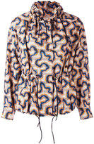 Isabel Marant printed drawstring jacket - women - Cotton/Linen/Flax - 38