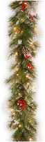 clear National Tree Company Wintry Berry Garland With Lights, 9'