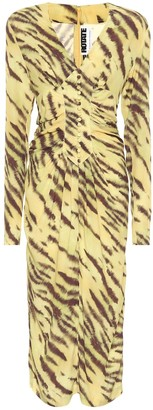 Rotate by Birger Christensen Heather tiger-print crepe midi dress