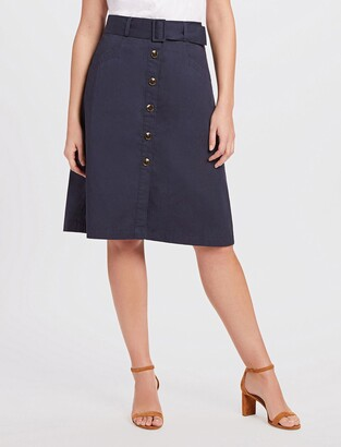 Draper James A-Line Chino Skirt