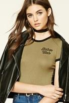 Forever 21 FOREVER 21+ Babes Club Logo Bodysuit