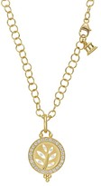 Temple St. Clair 18K Yellow Gold Pavé Halo Tree Cutout Pendant with Diamonds