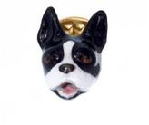 Nach Bulldog Porcelain Pin