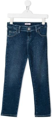 Miss Blumarine Crystal Embellished Jeans