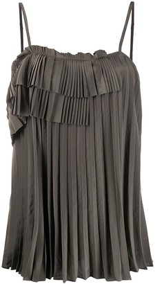 P.A.R.O.S.H. Pleated Asymmetric Blouse