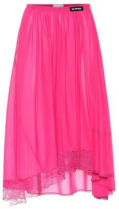 Balenciaga Lingerie jersey skirt