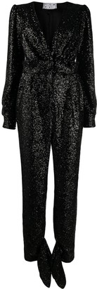 In The Mood For Love Amber sequinned jumpsuit
