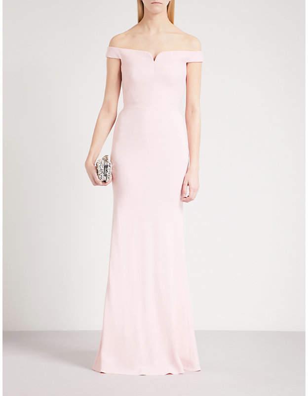 Alexander McQueen Sweetheart crepe column gown