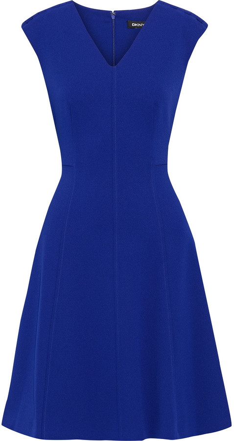 DKNY Flared Stretch-crepe Dress