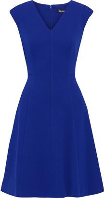 DKNY Flared Stretch-crepe Dress
