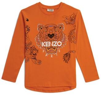 Kenzo Kids Icon Tiger Friends L/Slv T-Shirt