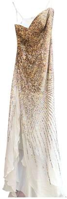Non Signã© / Unsigned White Silk Dresses