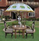 Lal Haveli Decorative Sun Protection Garden Parasol Umbrella Large 52 X 72 Inches