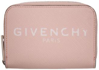 Givenchy Pink Mini Paris Zip Wallet