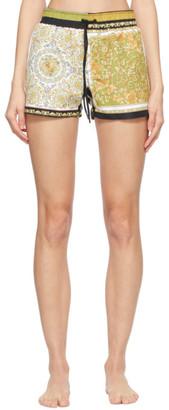 Versace Underwear Gold and Black Barocco Swim Shorts