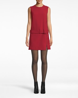 Nicole Miller Stretchy Tech Belted Mini Dress
