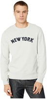 J.Crew Classic French Terry New York Graphic Sweatshirt (Warm Pearl) Men's Clothing